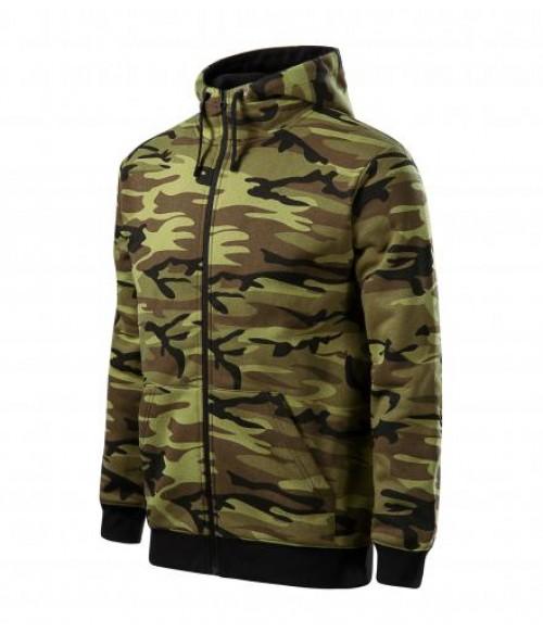 Trendikas kamuflaaž stiilis kapuutsiga vabaaja jakk meestele