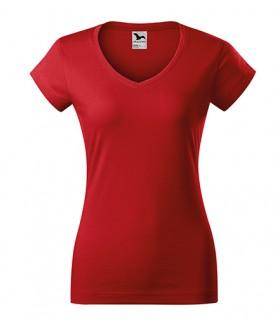 Klassikaline V kaelusega T-särk naistele